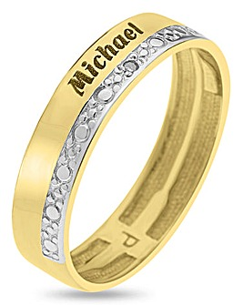 Precious Sentiments 9 Carat Gold Ladies Personalised Band Ring