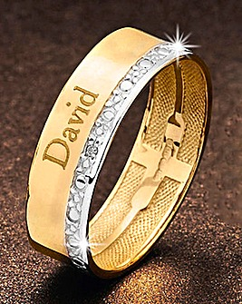 Precious Sentiments Gold Gents Band Ring