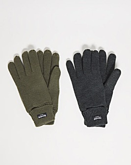 Capsule Pack of 2 Thinsulate Gloves