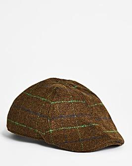 Olive Check Flat Cap