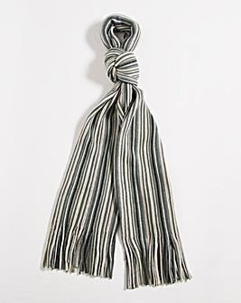 Grey Multi Stripe Scarf