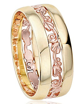 Clogau 9 Carat Yellow and Rose Gold 'Tree of Life' Ring