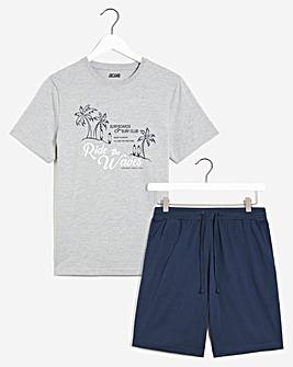 Printed T-shirt and short set