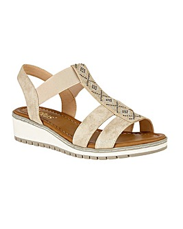 Lotus Etta Wedge Open-Toe Sandals