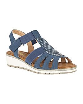 Lotus Rene Wedge Open-Toe Sandals