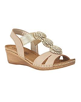 Lotus Saphira Wedge Open-Toe Sandals