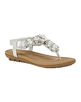 Lotus Chiquita Toe-Post Mule Sandals