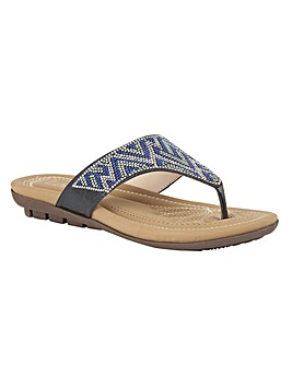 Lotus Patti Toe-Post Mule Sandals