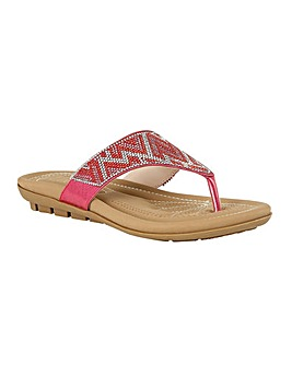 Lotus Patti Mule Sandals Standard D Fit