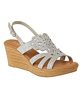 Lotus Ludisa Sling-Back Wedge Sandals