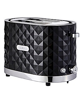 Diamond 2 Slice Black Toaster