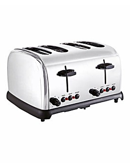 JDW 4 Slice Stainless Steel Toaster