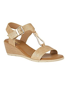 Lotus Ginny Wedge Open-Toe Sandals