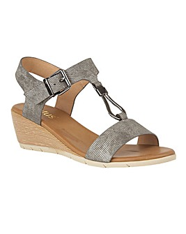 Lotus Ginny Wedge Open-Toe Sandals