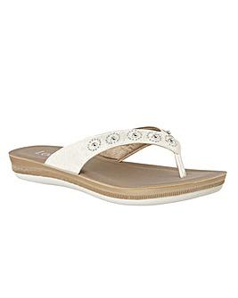 Lotus Lexi Toe-Post Mule Sandals
