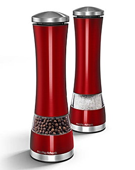 Morphy Richards Electronic Salt and Pepper Mill Set - Red