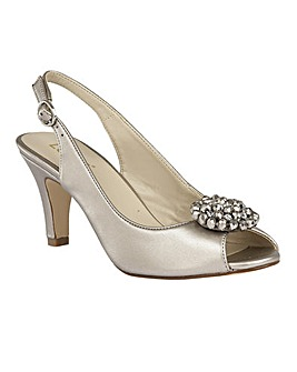 Lotus Elodie Sling-Back Peep-Toe Shoes