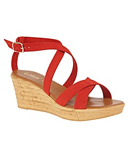 Lotus Nora Wedge Mule Sandals