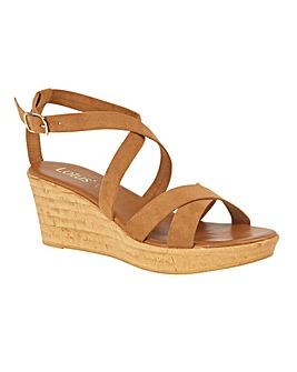 Lotus Nora Wedge Mule Sandals