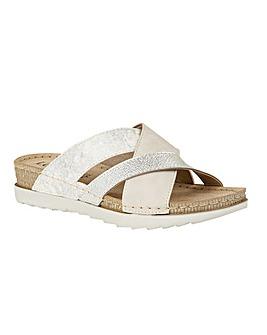Lotus Gail Open-Toe Mule Sandals