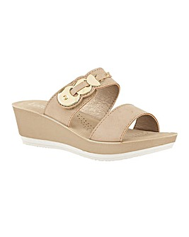 Lotus Roni Open-Toe Wedge Mule Sandals