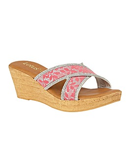 Lotus Perla Wedge Mule Sandals