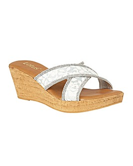 Lotus Perla Mule Sandals Standard D Fit