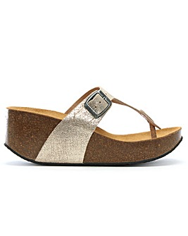 Daniel Peccavi Toe Post Wedge Sandals