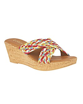 Lotus Jacinta Wedge Mule Sandals