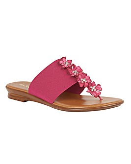 Lotus Alicia Toe-Post Mule Sandals