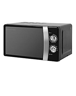 Russell Hobbs RHMM701B 17L Colours Manual Microwave - Black