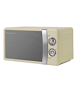 Russell Hobbs 700W Cream Microwave