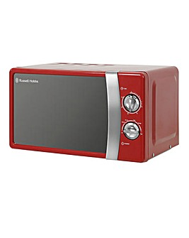 Russell Hobbs RHMM701R 17L Colours Manual Microwave - Red