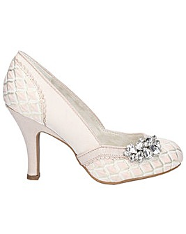 Ruby Shoo Fabia Jewel Trimmed Court Shoe