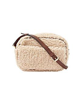 Accessorize Shearling Cross-Body Bag