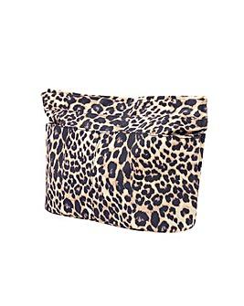 Accessorize Leopard Zip Bag Organiser