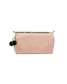 Accessorize Pom Pom Zip Makeup Bag