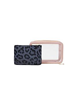 Accessorize Clear Makeup Case Set