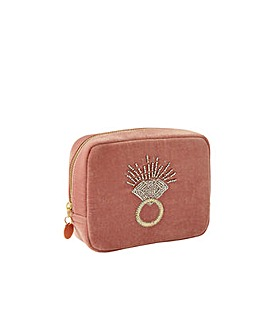 Accessorize Beaded Ring Large Pouch Bag