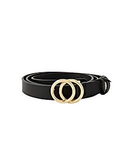 Accessorize Double Hoop Skinny Belt