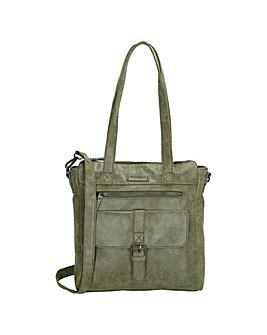 Enrico Benetti Amy 2 Handle Faux Leather Shoulderbag