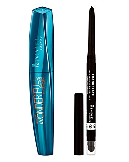 Rimmel Mascara & Eye Definer Set - With Free Lips Pouch