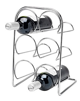 Pisa Chrome 6 Bottle Wine Rack