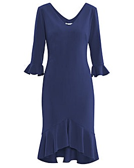 Gina Bacconi Daphne Stretch Crepe Dress