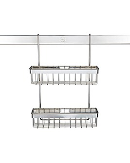 Metro Chrome Two Tier Spice Rack