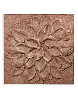 Dhalia Copper 3D Glitter Canvas