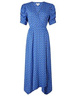 Monsoon Rhiannon Print Hanky Hem Dress
