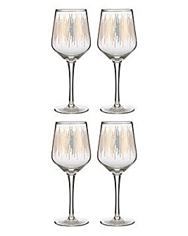 Set of 4 Deco Wine Glasses