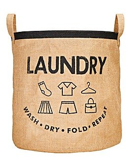 Hessian Laundry Bag