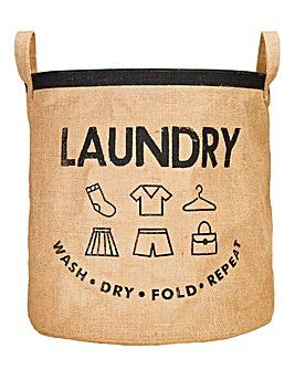 Hessian Laundry Bag